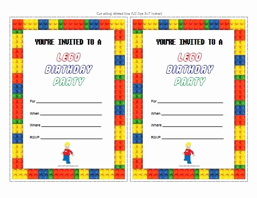 Lego Party Invitation Template Lovely 25 Best Ideas About Lego Birthday Invitations On