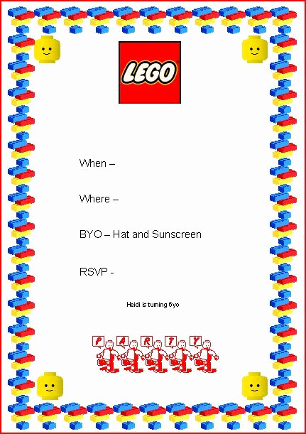Lego Party Invitation Template Luxury 25 Best Ideas About Lego Invitations On Pinterest