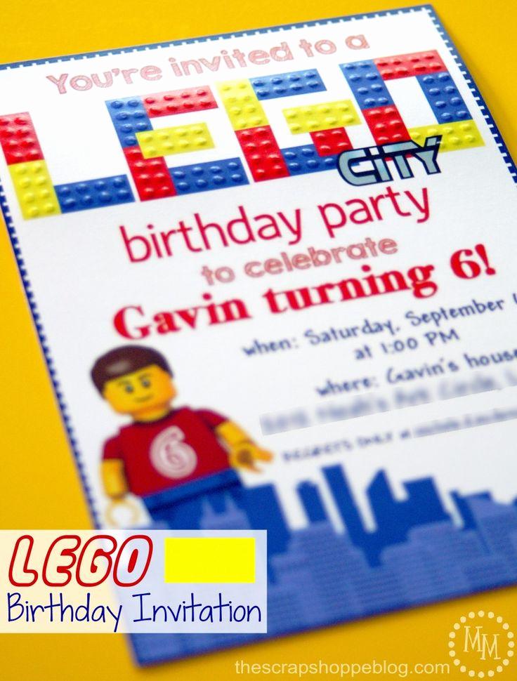 Lego Party Invitation Template Luxury Best 25 Lego Birthday Invitations Ideas On Pinterest
