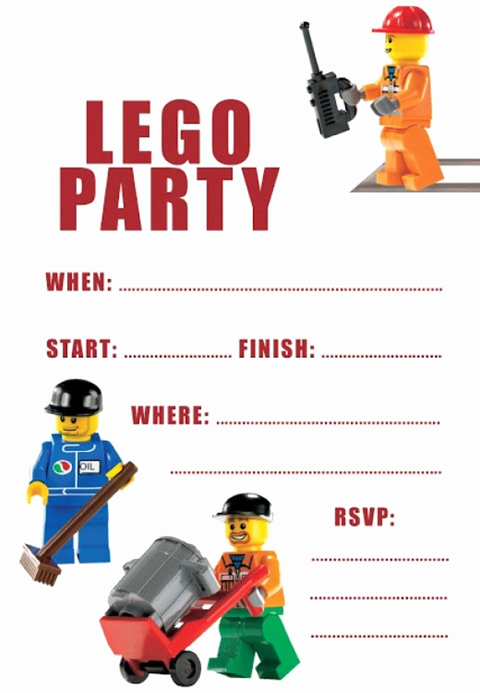 Lego Party Invitation Template New How to Make Lego Birthday Invitations with Shop