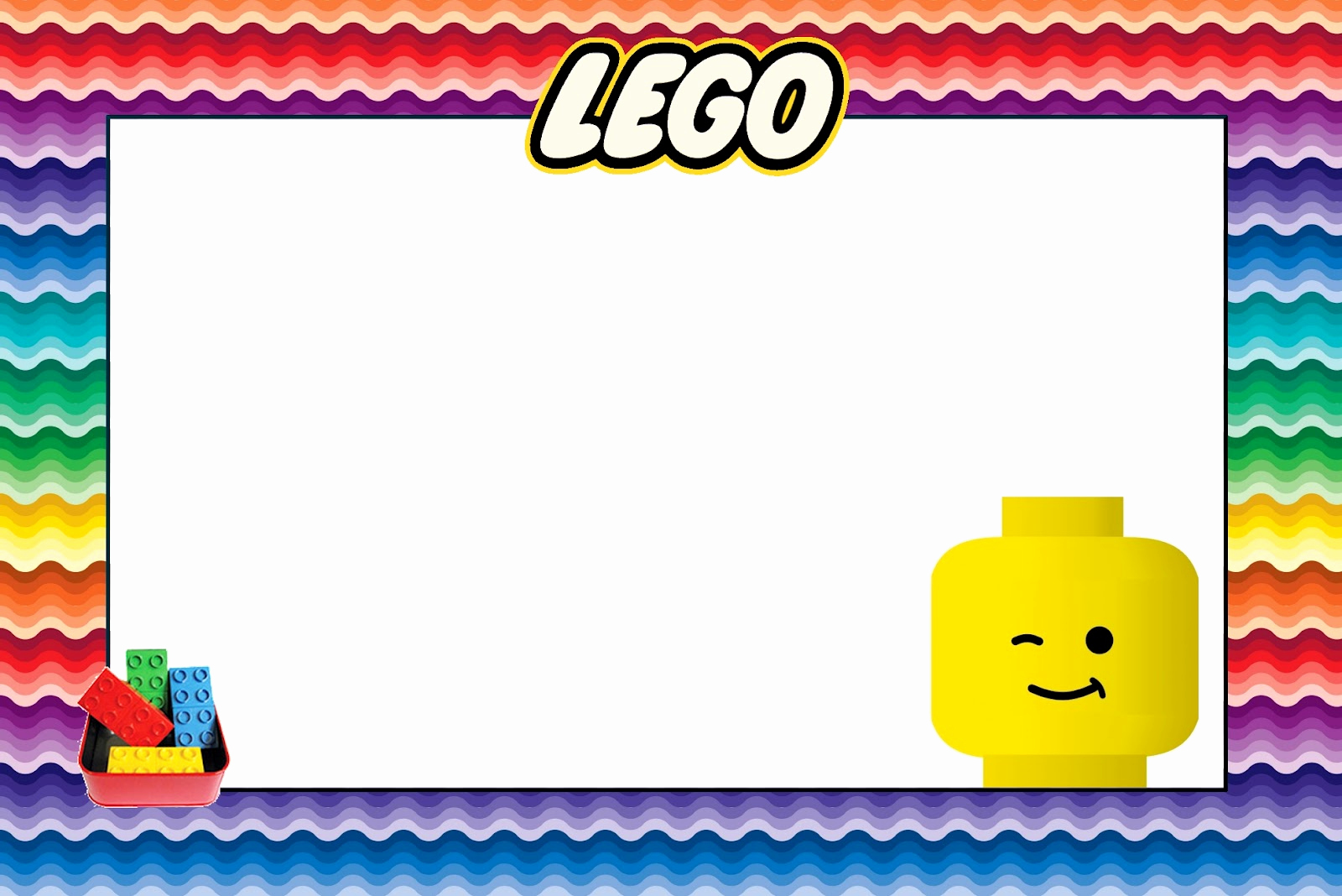 Lego Party Invitation Template Unique Lego Free Printable Invitations Oh My Fiesta In English