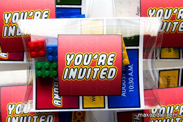 Lego Party Invitation Template Unique Lego Invitation Makoodle