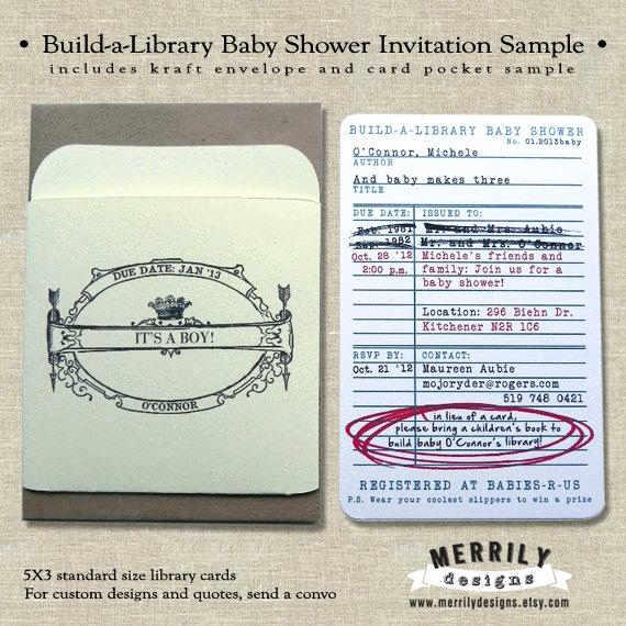Library Card Baby Shower Invitation Luxury Unavailable Listing On Etsy