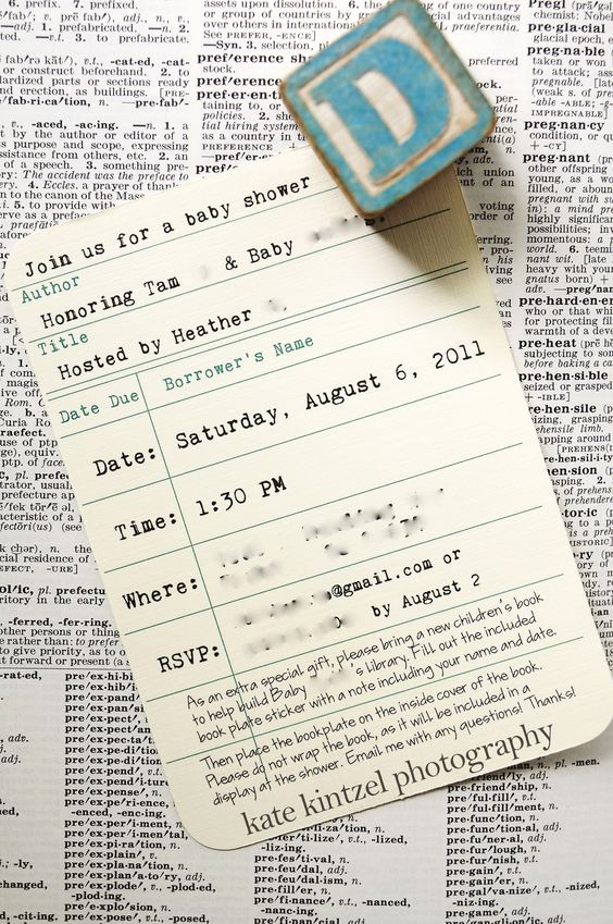 Library Card Invitation Template Elegant Pinterest • the World's Catalog Of Ideas