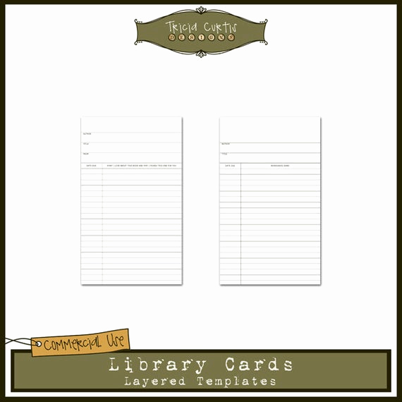 Library Card Invitation Template New Library Cards Mercial Use Layered Templates for by
