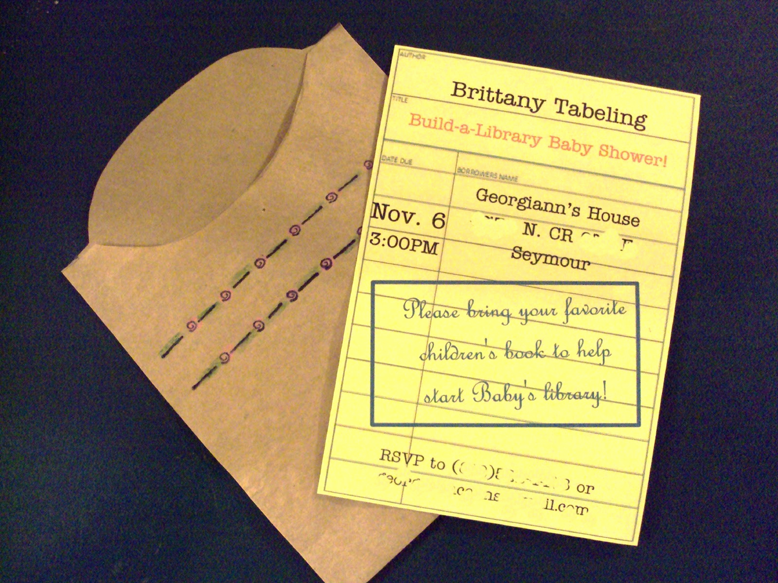 Library Card Invitation Template New Sweet songs November Thankfulness Paper