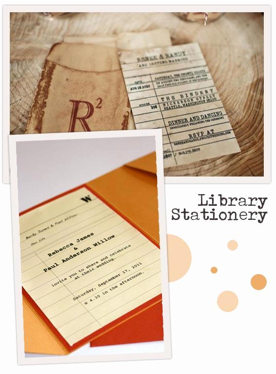 Library Card Wedding Invitation Elegant Library Inspired Invitations Library Card Stationery