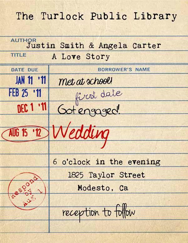 Library Card Wedding Invitation Luxury Best 25 Library Wedding Ideas On Pinterest