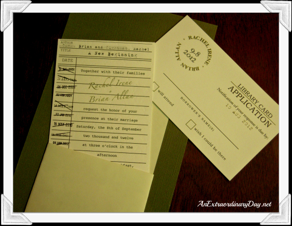 Library Card Wedding Invitation Unique Creating Extraordinary Wedding Memories Part 1