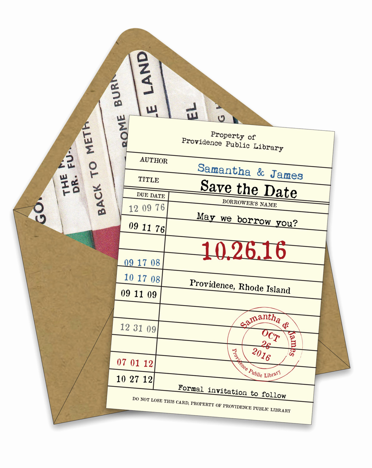 Library Card Wedding Invitation Unique Library Card Save the Dates & More by foreword Press Design