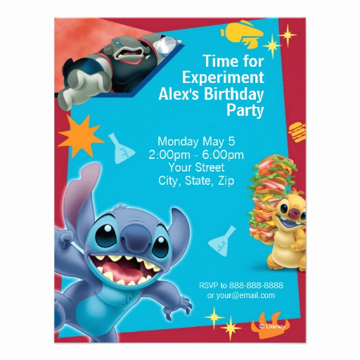 "Lilo and Stitch Invitation Awesome Lilo & Stitch Birthday Invitation 4 25"" X 5 5"" Invitation"