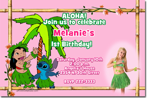 Lilo and Stitch Invitation Beautiful Luau Birthday Invitations Candy Wrappers Thank You Cards