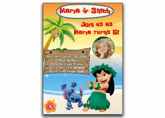 Lilo and Stitch Invitation Best Of Lilo and Stitch Birthday Invitation Lilo and by