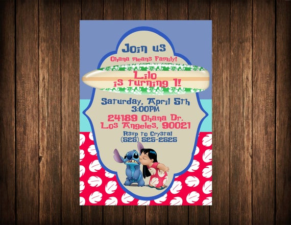 Lilo and Stitch Invitation Best Of Lilo and Stitch Birthday Invitation Printable