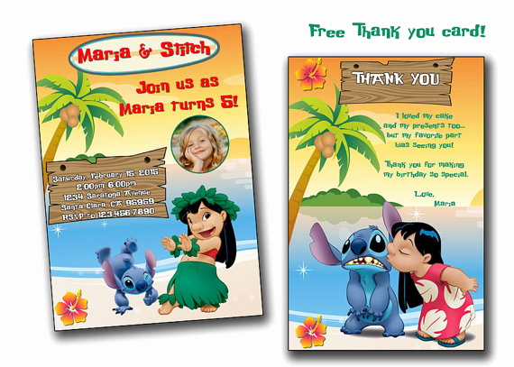 Lilo and Stitch Invitation Best Of Lilo and Stitch Invitationlilo and Stitch Birthday
