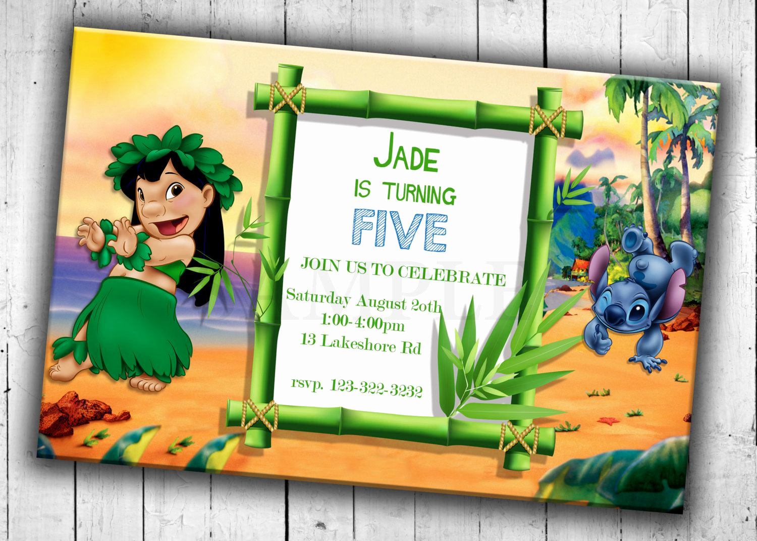 Lilo and Stitch Invitation Fresh Lilo and Stitch Party Invitation Kids Birthday Party