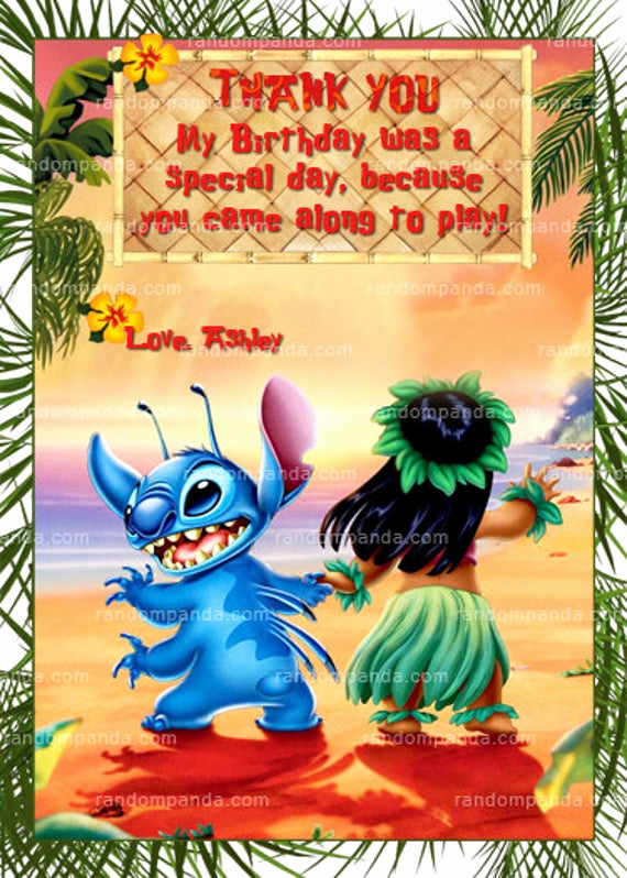 Lilo and Stitch Invitation Fresh Lilo and Stitch Thank You Card Lilo and Stitch Party