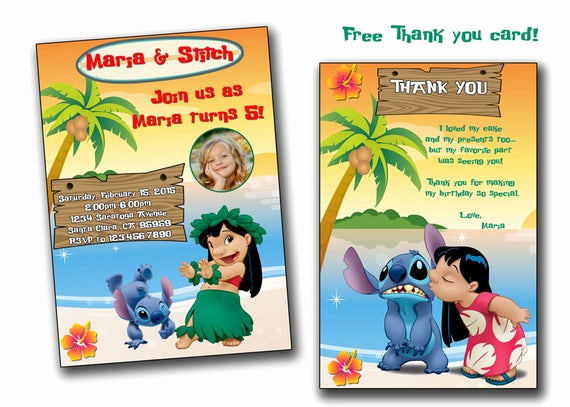Lilo and Stitch Invitation Inspirational Lilo and Stitch Invitationlilo and Stitch Birthday