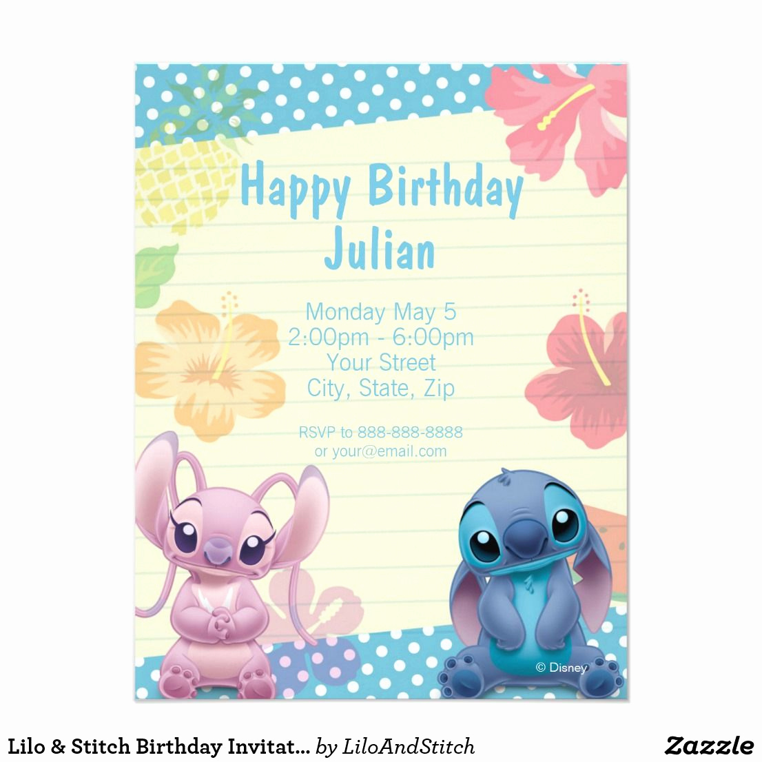 Lilo and Stitch Invitation Luxury Lilo & Stitch Birthday Invitation