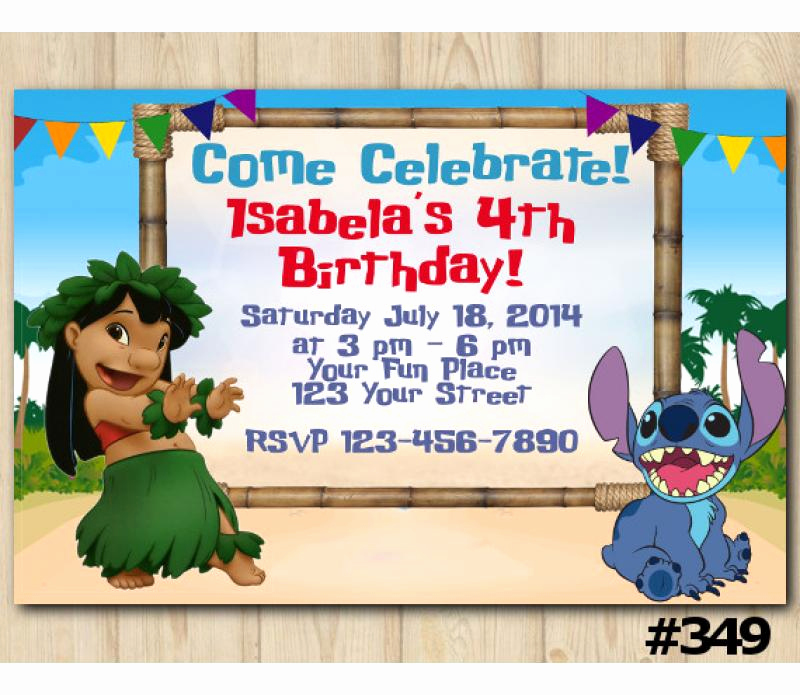 Lilo and Stitch Invitation Luxury Lilo and Stitch Birthday Invitation Lilo and Stitch