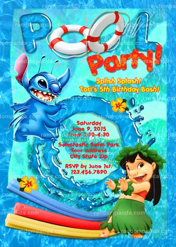 Lilo and Stitch Invitation Luxury Printable Lilo and Stitch Invitation Stitch Pool Party Lilo