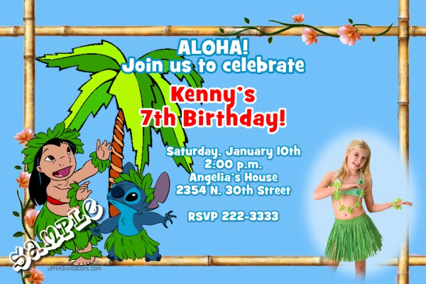 Lilo and Stitch Invitation Unique Luau Lilo and Stitch Birthday Invitations