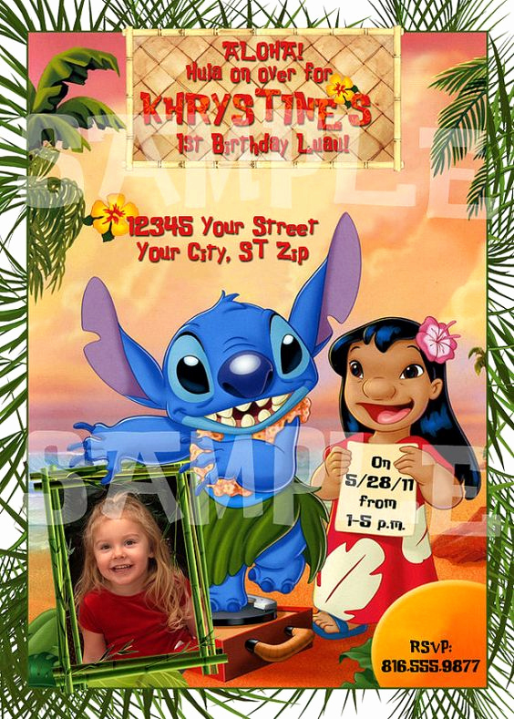 Lilo and Stitch Invitation Unique Printable Lilo and Stitch Birthday Party by therandompanda