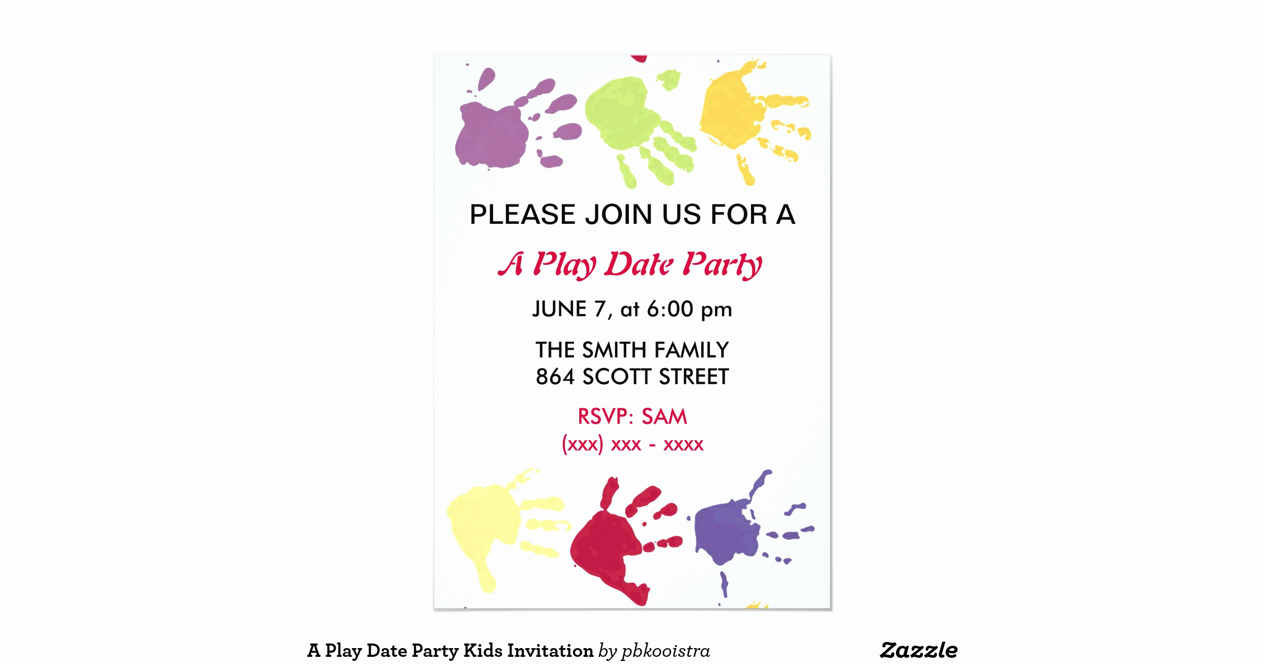 Line Play Invitation Code Fresh A Play Date Party Kids Invitation