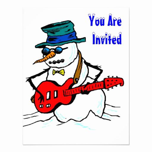 "Line Play Invitation Code Lovely Snow Fun Winter Birthday Party Invitation Snowman 4 25"" X"