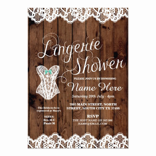 Lingerie Shower Invitation Wording Awesome Lingerie Shower Bridal Party Corset Lace Invite