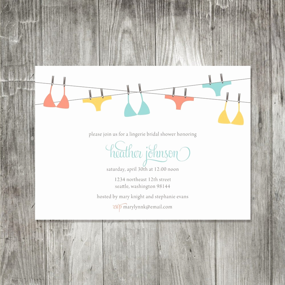 Lingerie Shower Invitation Wording Awesome Lingerie Shower Invitation by Pinklilypress On Etsy