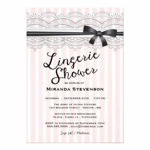 Lingerie Shower Invitation Wording Elegant Lingerie Shower Chic Lace Garter Party Invitation