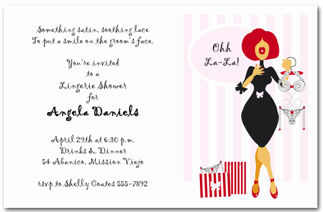 Lingerie Shower Invitation Wording Elegant Lingerie Store Bridal Shower Invitations Lingerie Shower