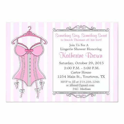 Lingerie Shower Invitation Wording Lovely Lingerie Bridal Shower Invitation