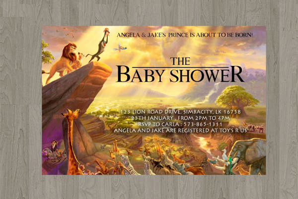 Lion King Invitation Template Awesome 11 Baby Shower Invitation Templates Download