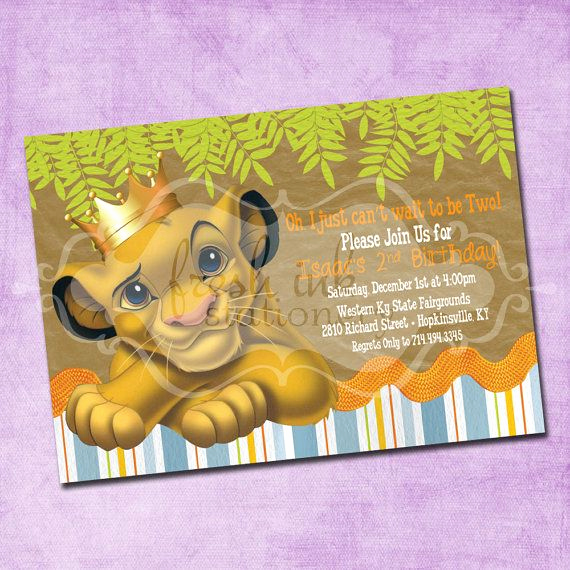 Lion King Invitation Template Best Of Simba Lion King Birthday Invitation
