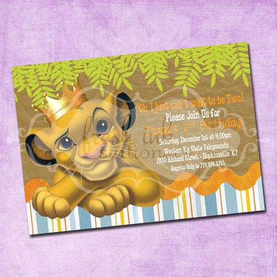 Lion King Invitation Template Best Of Simba Lion King Birthday Invitation