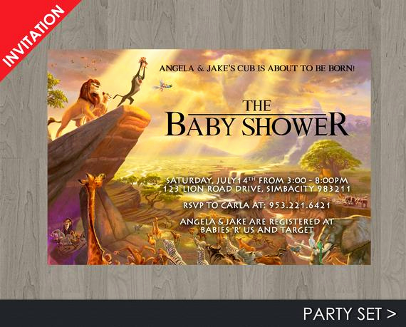 Lion King Invitation Template Fresh Lion King Baby Shower Invitation Jungle Invitation Disney