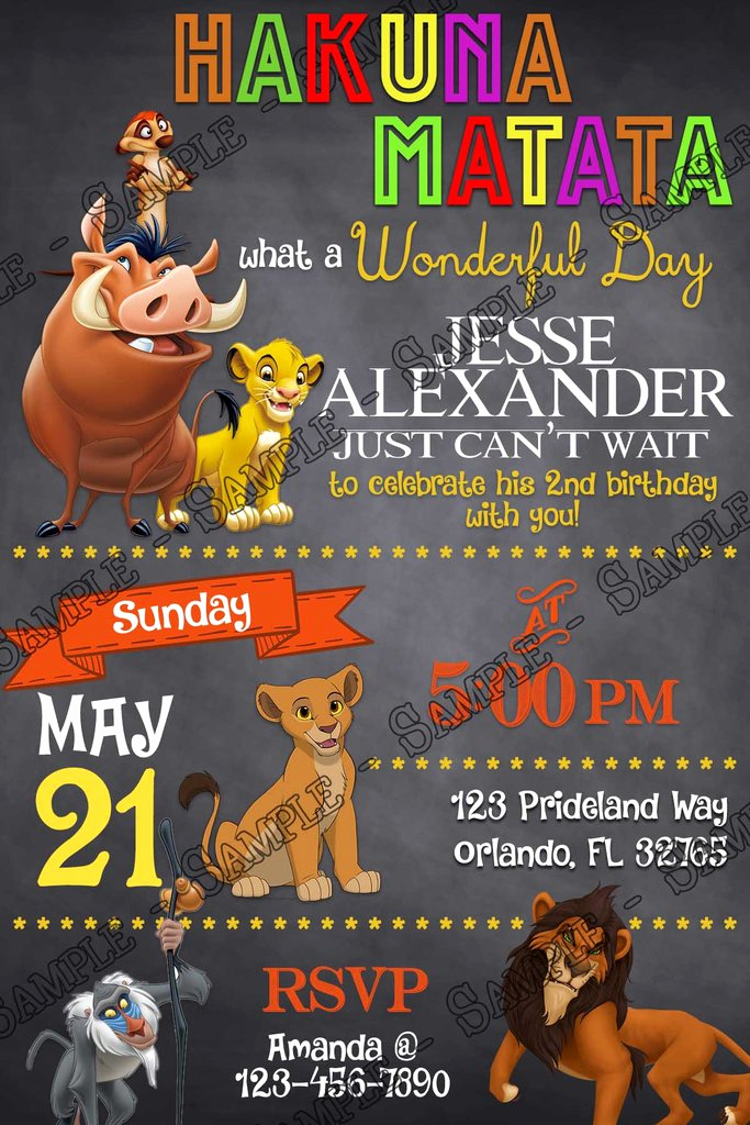 Lion King Invitation Template Fresh Novel Concept Designs Disney S the Lion King