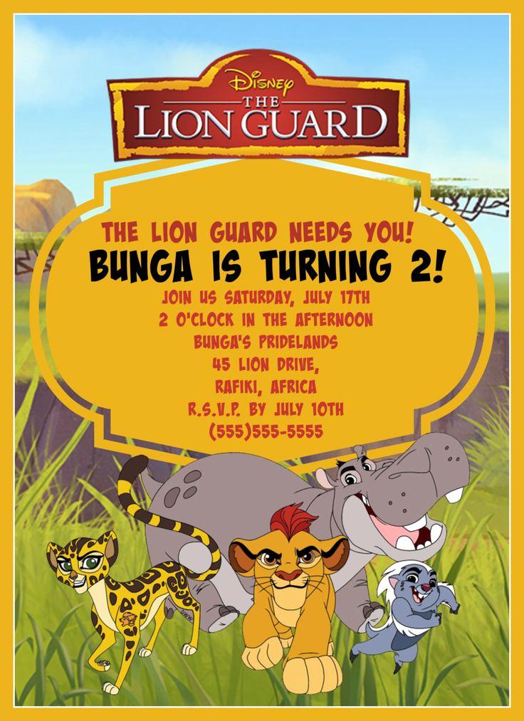 Lion King Invitation Template Inspirational Lion Guard Birthday Invitation Digital