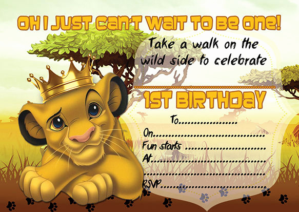 Lion King Invitation Template Lovely 10 X Children Kids Birthday Party Invitations the Lion