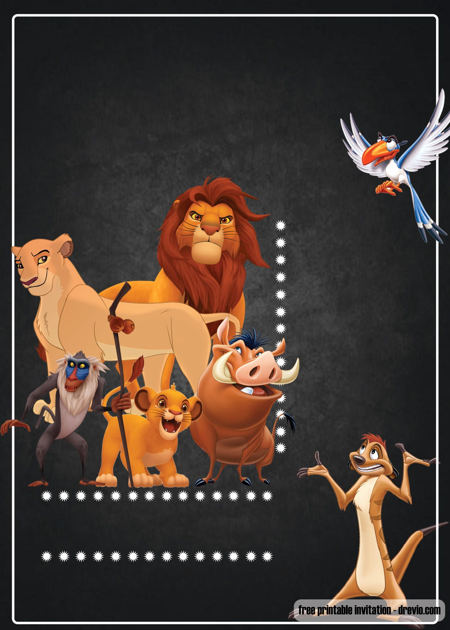 Lion King Invitation Template Lovely Free Printable Lion King Invitation Template