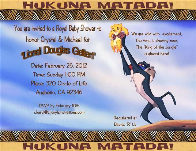 Lion King Invitation Template Lovely Invite My Disney World