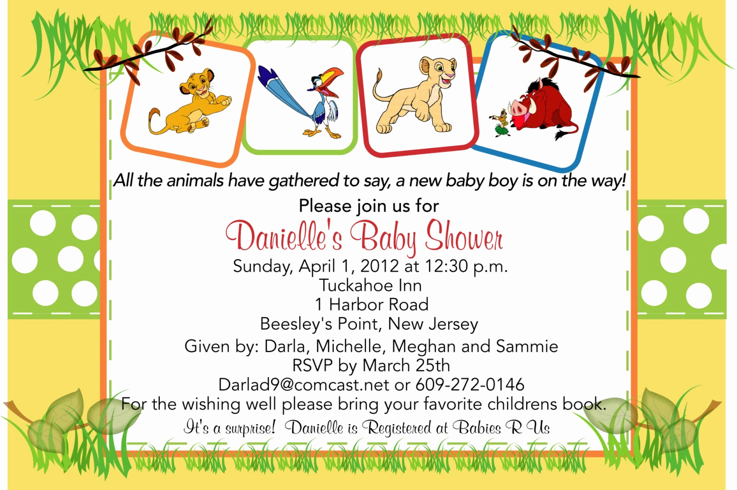 Lion King Invitation Template Lovely Lion King Baby Shower Invitations