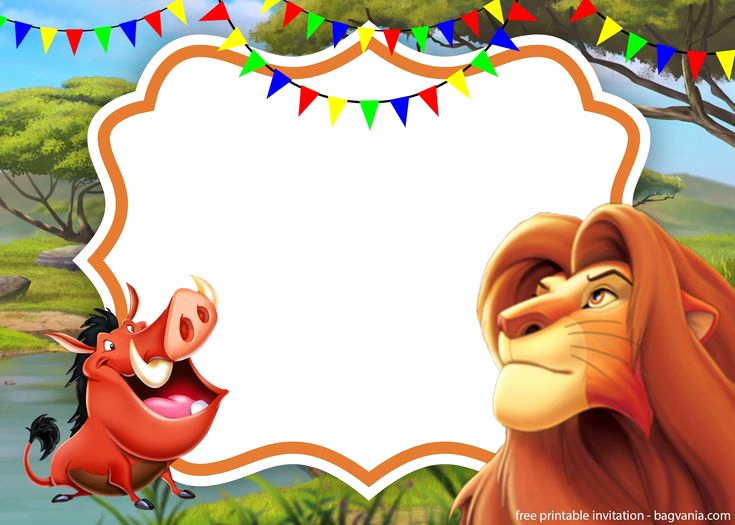 Lion King Invitation Template Lovely Simba Lion King Invitation Template Perfect for Parties