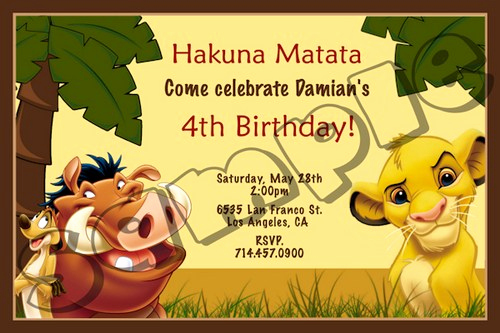 Lion King Invitation Template Luxury Lion King Birthday Party Invitation Ideas – Bagvania Free