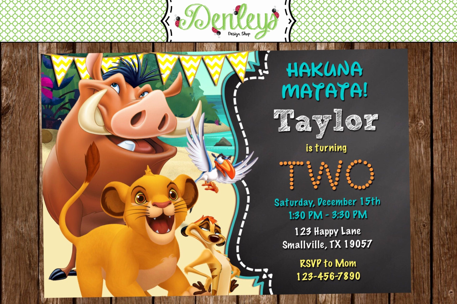 Lion King Invitation Template New Lion King Birthday Invitation Lk01