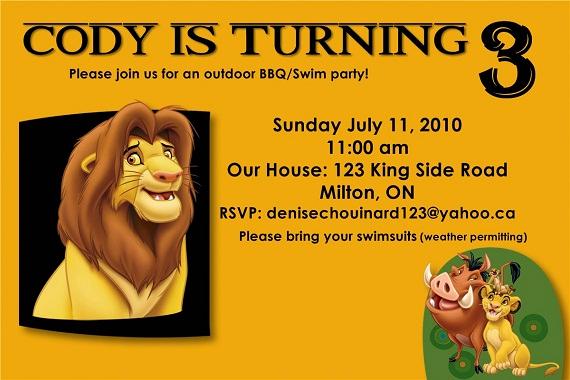 Lion King Invitation Template Unique Lion King Birthday Party Invitation Ideas – Bagvania Free