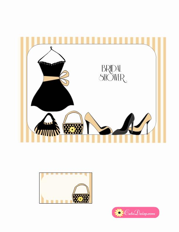 Little Black Dress Invitation Awesome Little Black Dress themed Bridal Shower Invitations