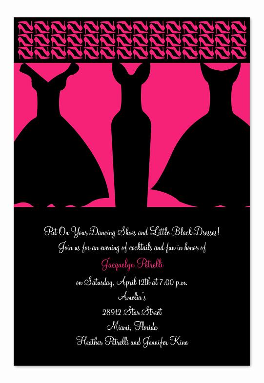 Little Black Dress Invitation Awesome Little Black Dresses Birthday Invitations by Invitation